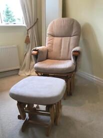 Tutti bambini rocking chair and gliding footstool
