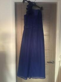 Royal blue 1 strap evening dress