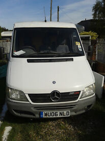 Mercedes Sprinter 311 CDI SWB 3.5 tonne, Mileage 135k Approx, 2.1 diesel turbo, good & reliable