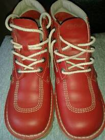 Mens Red Kicker Boots