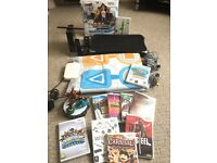 Nintendo Wii Bundle - Wii Console + 10 Games + Dance Mat + Fit Board + Skylanders + More