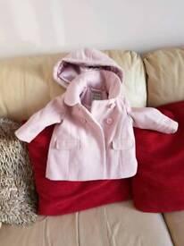 Next infant girls coat age 6-9 months
