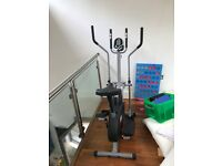 New XS Sport Pro-2-in 1 Elliptical Cross Trainer Exercise Bike-Fitness Cardio Weightloss Workout