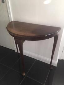 H SHAW of London Demi Lune mahogany table