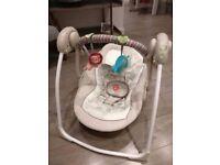 Bright Starts Comfort & Harmony Cozy Kingdom Portable Electric Baby Swing