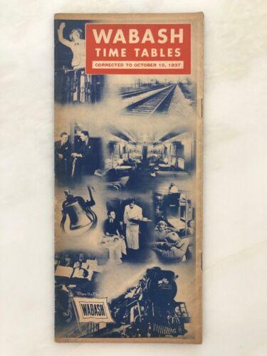 1937 WABASH RAILROAD Train TIME TABLES Vintage ADVERTISING