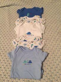 NEW: Mixed brands baby boy newborn vest tops/all in ones