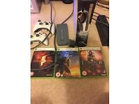 Xbox 360 with hard drive and 3 games