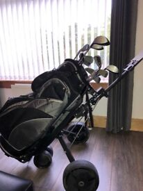 Full set golf clubs pro classic pc-x bag and trolly
