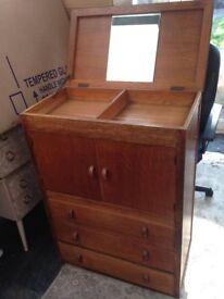 Vintage solid wood tallboy