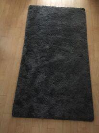 Ikea Adum Grey Pile Rug