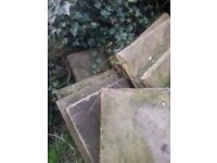 Yorkshire Stone Flags 8msq reclaimed Haworth dated 1875