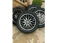 BMW X1 Set of 4 alloy wheels with winter tyres