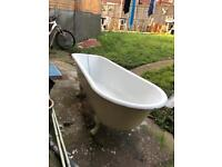 1930s solid cast iron bath