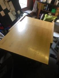Extendable wood table with 4 chairs