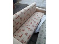 2x sofa settee sofa beds, recliners. mint condition with storage was nearly 300