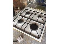 Belling 4 ring gas hob with push button ignition