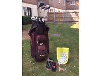 Golf Bag, Clubs, Full set of Irons, Balls + more