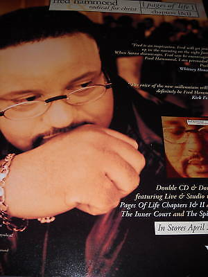 FRED HAMMOND Radical For Christ 1998 PROMO POSTER AD