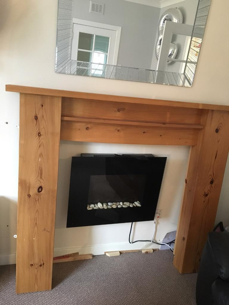 Pine fire place