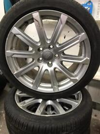 Audi A4 alloys and tyres off 2012-2015 model