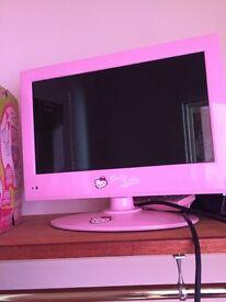 Pink hello kitty 12 inch tv
