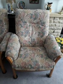 Ercol saville settee and chairs