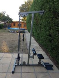 BOBY SOLID PRO-LAT PULL DOWN WEIGHT MACHINE IN GOOD CONDITION