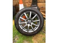 "16"" Wolfrace Milano 5x112 Alloys and tyres (audi, skoda, seat, vw)"
