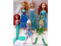Disney Dolls / Princess inc Frozen Elsa & Anna, Princess Merida, Fairy, Mermaid.