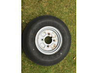 Trailer Wheel 4.80/4.00 - 8 by Deli Tire - a spare so never used