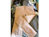 Jack wills pale pink jeans