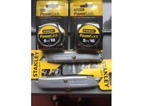 4x stanley tools brand new.