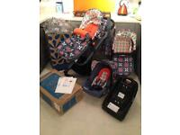 Cosatto Travel System-ISOFIX Base-Car Seat-Change Bag-Travel Frame-Carry Cot-Buggy-Rain Covers