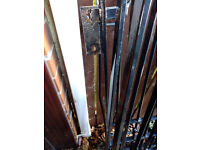 steel gates, black. approx 3m/10ft