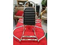 Motor bike seat rest/spare wheel /carrier