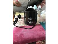 Tommee Tippee bottle warmer black