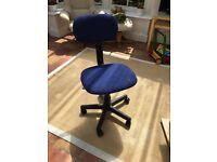 Blue swivel office chair