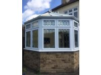 Used double-glazed conservatory including fitted Thomas Sanderson blinds