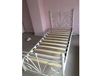 Pretty Metal bed frame and mattress
