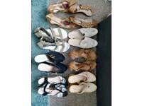 Bag of summer footwear.
