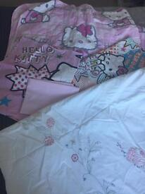 Hello kitty bedding set & the white company fairy single duvet cover cost £70 for only that!