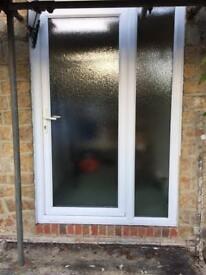 UPVC door and side window combination