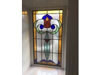 Triple Stained Glass Feature Window