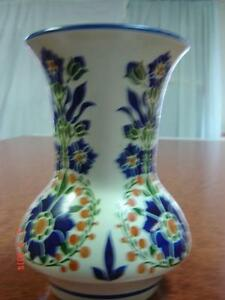 "Vintage Stylised Floral 7"" Art Deco Vase - Holland"
