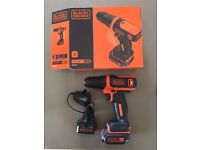Black and Decker 10.8 V Lithium Ion Cordless Drill