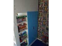 Children's Ikea Stuva Loft bed with 3 draws and wardrobe
