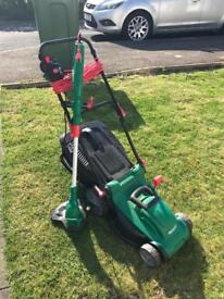 qualcast lawnmower and strimmer set