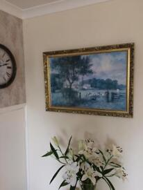 **can deliver** Beautiful Gilt Framed picture