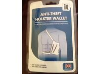 Anti theft holster wallet